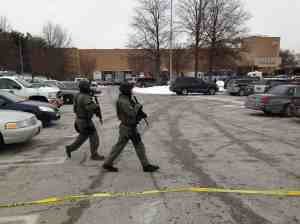 Police respond to a shooting Saturday at the Mall in Columbia. Photo Courtesy of The Washington Post